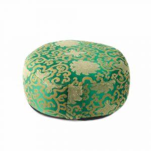 Yogi & Yogini Meditatiekussen Rond Katoen Groen - Lotus - 33 x 17 cm