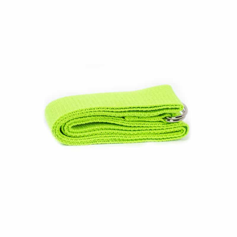 Spiru Yoga Riem D-ring Groen Katoen