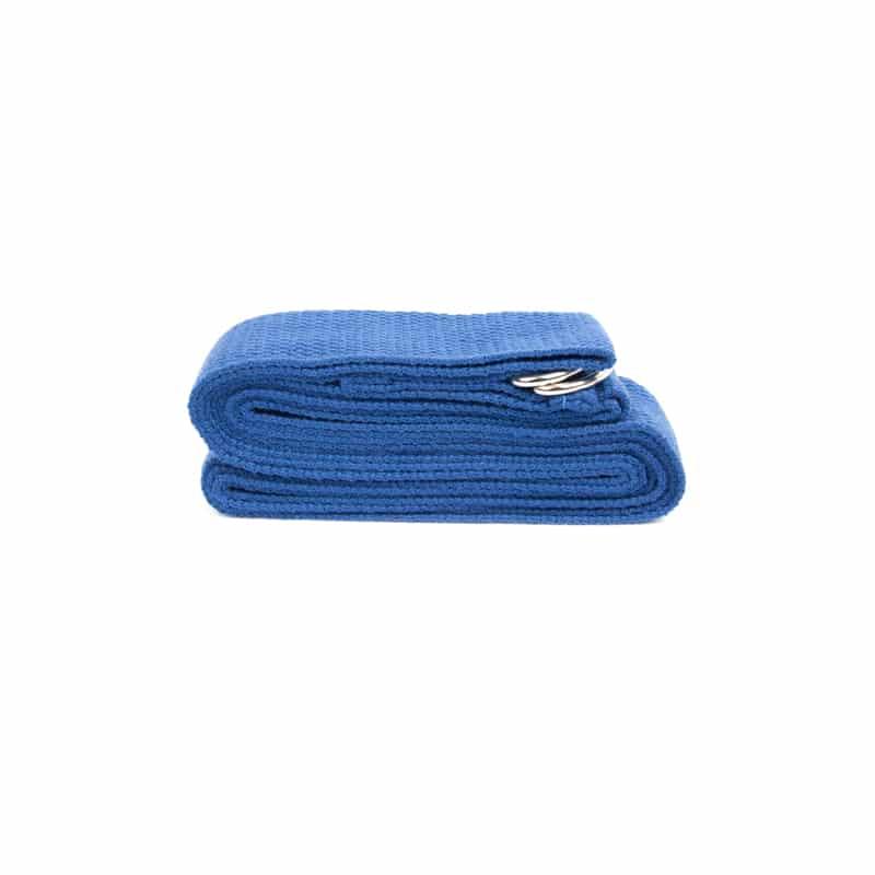 Spiru Yoga Riem D-ring Blauw Katoen (250 x 3 cm)