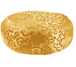 Yogi & Yogini Meditatiekussen Rond Katoen Goudkleurig - Lotus - 33 x 17 cm