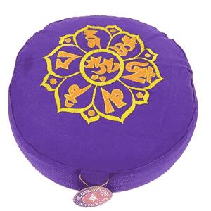 Yogi & Yogini Meditatiekussen Rond Katoen Violet - OHM  - 33 x 17 cm