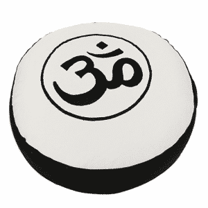 Yogi & Yogini Meditatiekussen Rond Katoen Zwart Wit - OHM - 33 x 17 cm