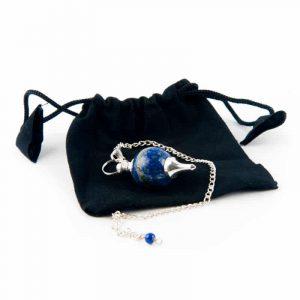 Pendel Gepolijste Lapis Lazuli & Metaal