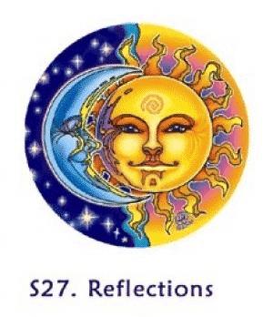 Raamsticker Zon en Maan