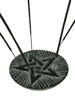 Wierook- en Kegelbrander Pentagram Zeepsteen