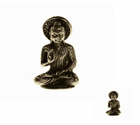Spiru Minibeeldje Boeddha Wijsheid Vairochana Messing