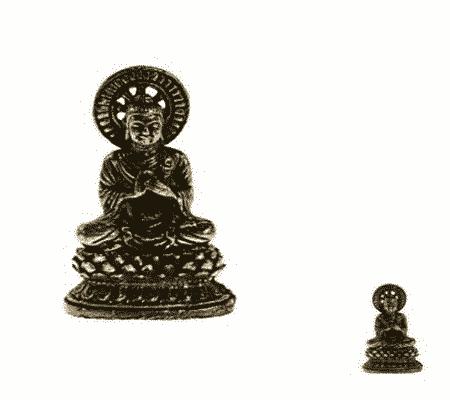 Spiru Minibeeldje Boeddha Vairochana Messing - 3 cm