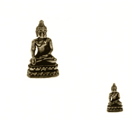 Spiru Minibeeldje Boeddha Amithaba Messing - 3,3 cm