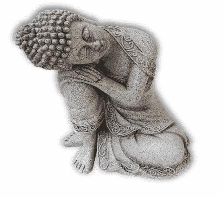 Spiru Rustende Boeddha Steengrijs (19,5 cm)