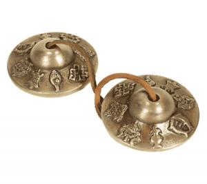 Tingsha's Superieure Klank 8 Voorspoedsymbolen (6,5 cm - 210 gram)