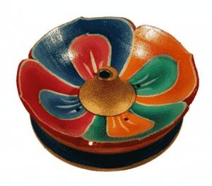 Wierookbrander Lotus Gelakt Hout (9 cm)