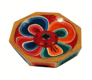 Wierookbrander Lotus Gelakt Hout (6 cm)