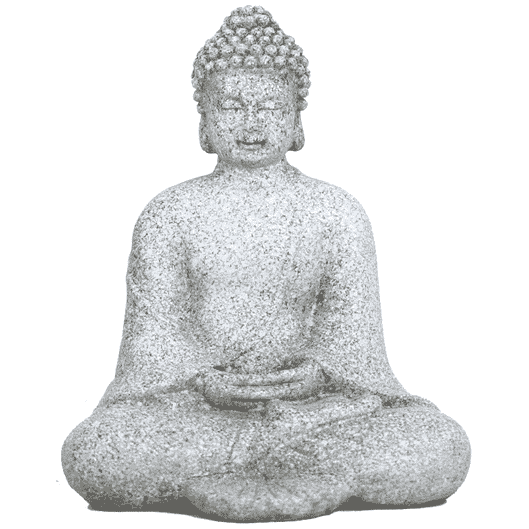 Spiru Meditatie Boeddha Steengrijs (12 cm)