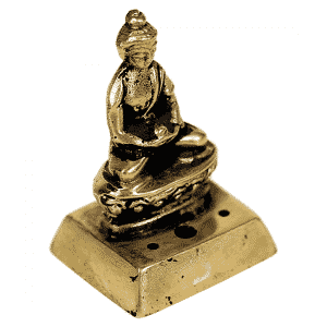 Wierookbrander Boeddha Messing - 4,5 cm