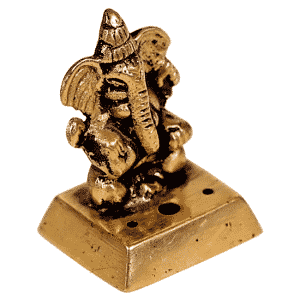 Wierookbrander Ganesha Messing (4,5 cm)