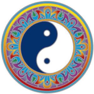 Raamsticker Yin Yang (14 cm)