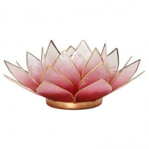 Lotus Sfeerlicht Rood-Roze Goudrand