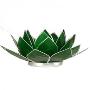 Lotus Sfeerlicht Groen 4e Chakra Zilverrand
