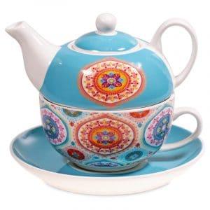 Tea for One Mandala Blauw