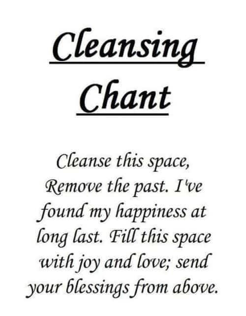 huis reinigen met salie spreuk