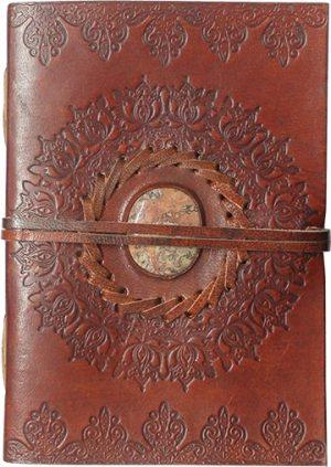 Notitieboek Leer met Koord Lotus