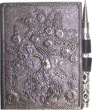 Klein Aantekenboek Witmetaal -Tree of Life