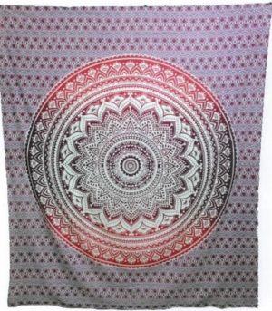 Mandala Wandkleed Vierkant Roze (228 x 228 cm)
