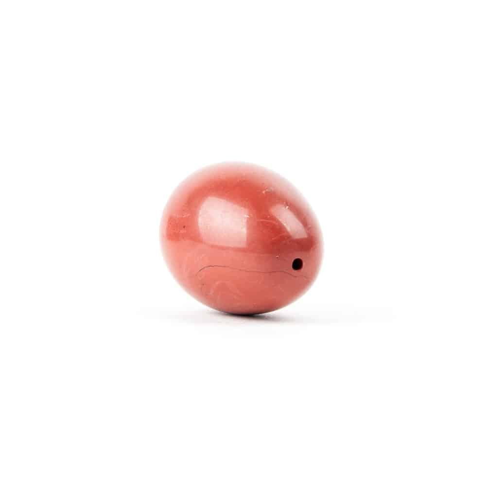 liggend rood yoni ei jaspis met gat in top