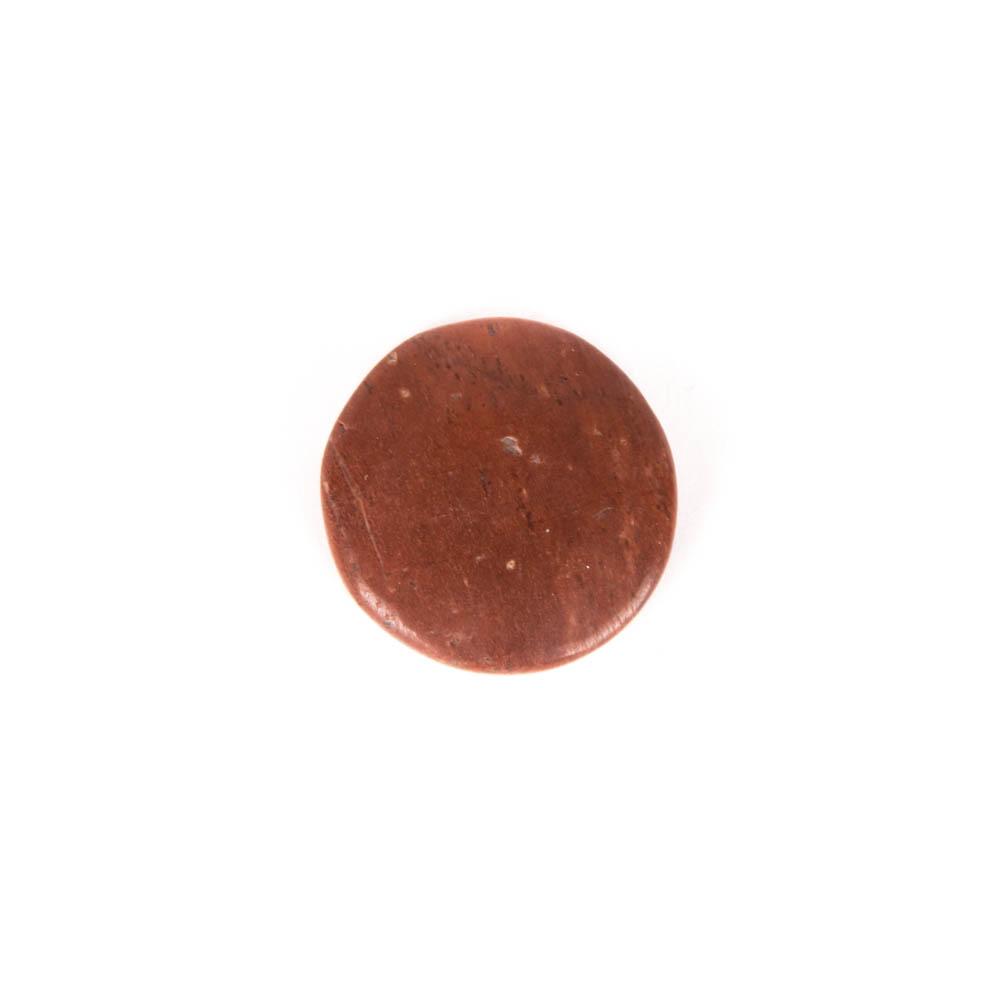 ronde platte edelsteen jaspis rood