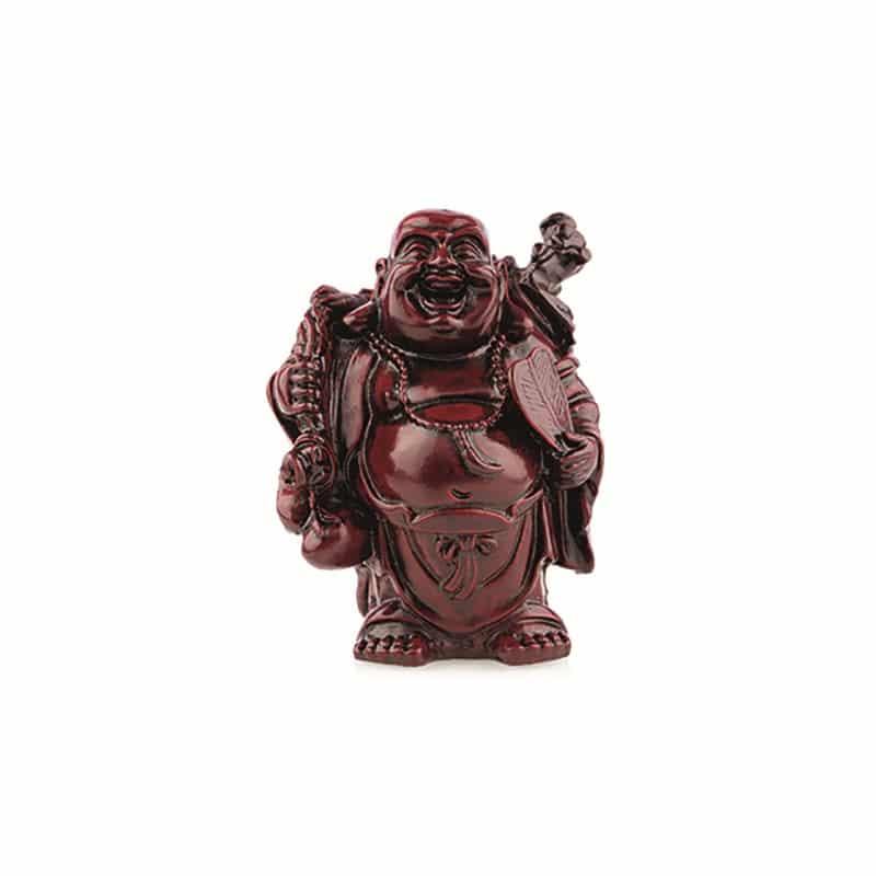 Spiru Boeddha Rood Knapzak en Spiegel (9 cm)