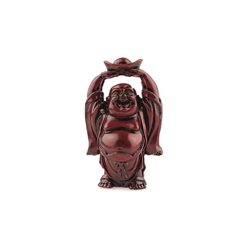 Spiru Boeddha Rood schaal boven Hoofd (9 cm)