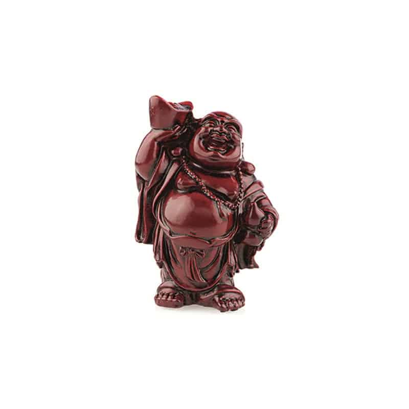 Spiru Boeddha Rood Schaal en Kruik (9 cm)