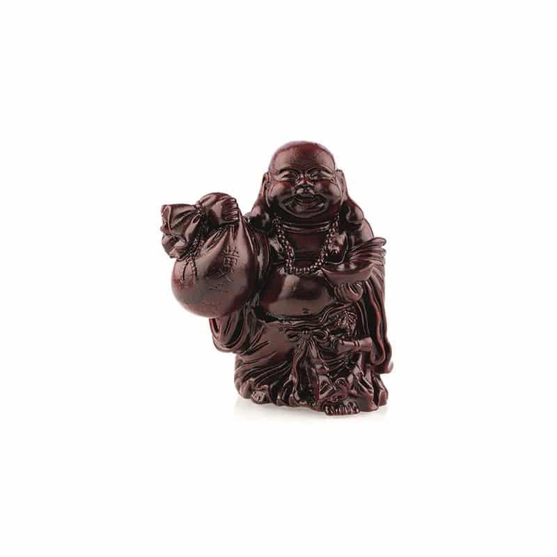 Spiru Boeddha Rood Zak en Schaal (9 cm)