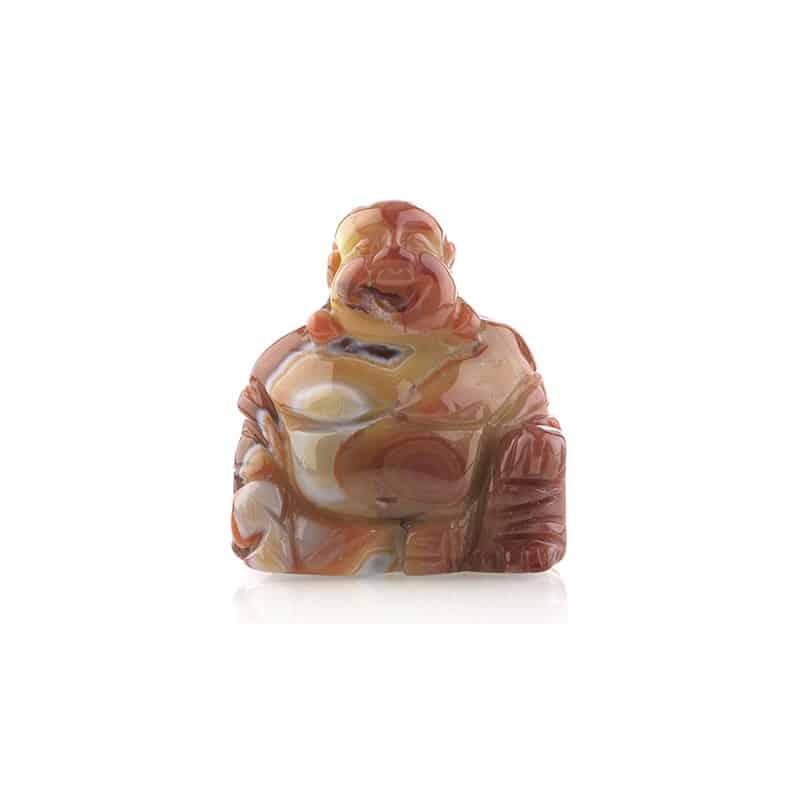 Spiru Boeddha van Edelsteen - Carneool (55 mm)