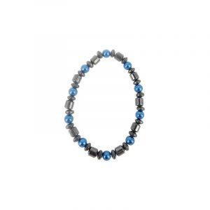 Magneetarmband Hematiet Donker Blauw  (6 mm)