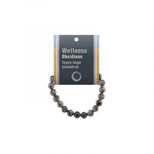 Powerbead Armband Obsidiaan Sneeuwvlok (Met Displaykaart)