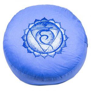 Yogi & Yogini Meditatiekussen Katoen Violet - 5e Chakra Vishuddha - 33 x 15 cm