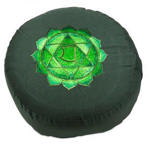Yogi & Yogini Meditatiekussen Katoen Groen -  4e Chakra Anahata - 33 x 15 cm