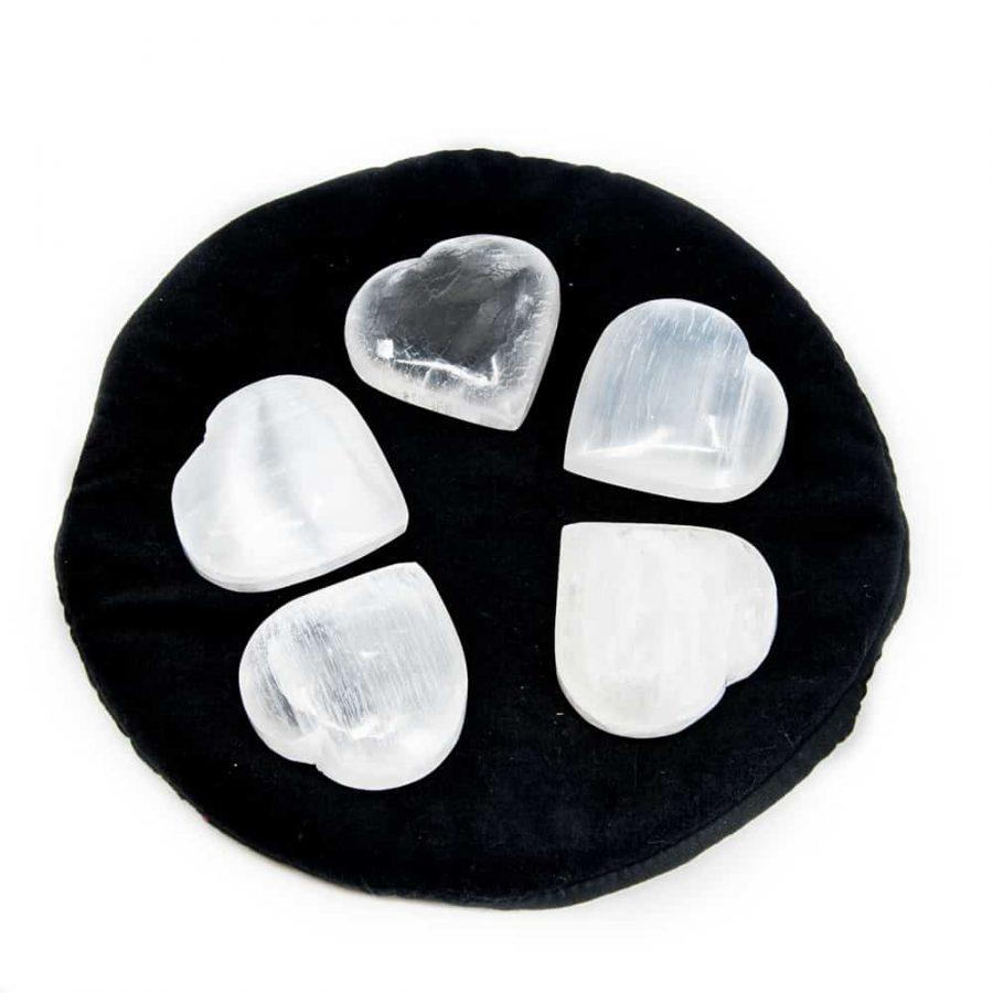 Hartvormige Knuffelsteen van Seleniet (Groot)