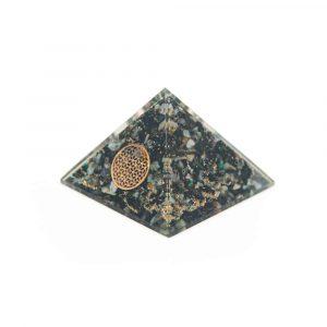 Orgone Piramide - Chrysokolla Flower of Life (70 mm)
