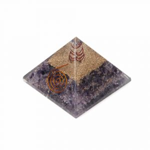 Orgoniet Piramide - Amethist met Kristal - Groot
