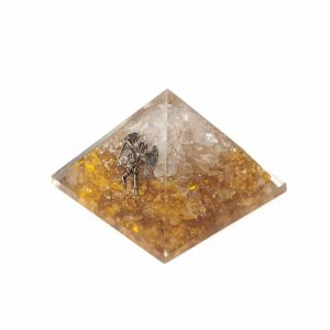 Orgoniet Piramide - Citrien met Engel - Groot