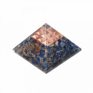 Orgoniet Piramide Lapis Lazuli met Koperen Spiraal
