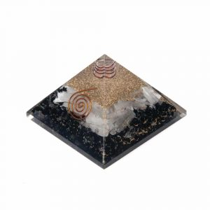 Orgonite Piramide Zwarte Toermalijn/ Seleniet (70 mm)