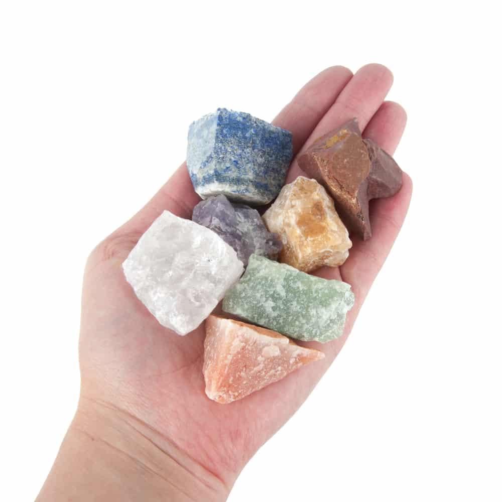 chakra stenen ruw