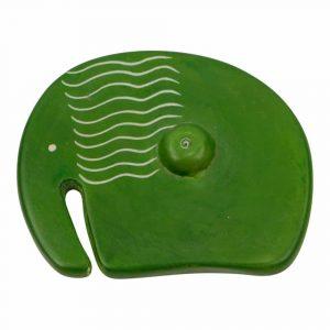 Zeepsteen Wierookbrander Olifant Groen