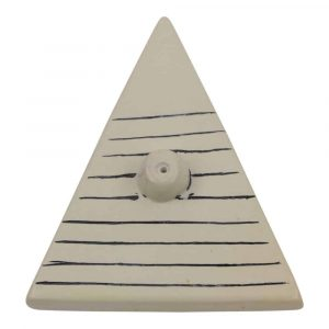 Zeepstenen Wierookbrander Driehoek Zwart-Wit