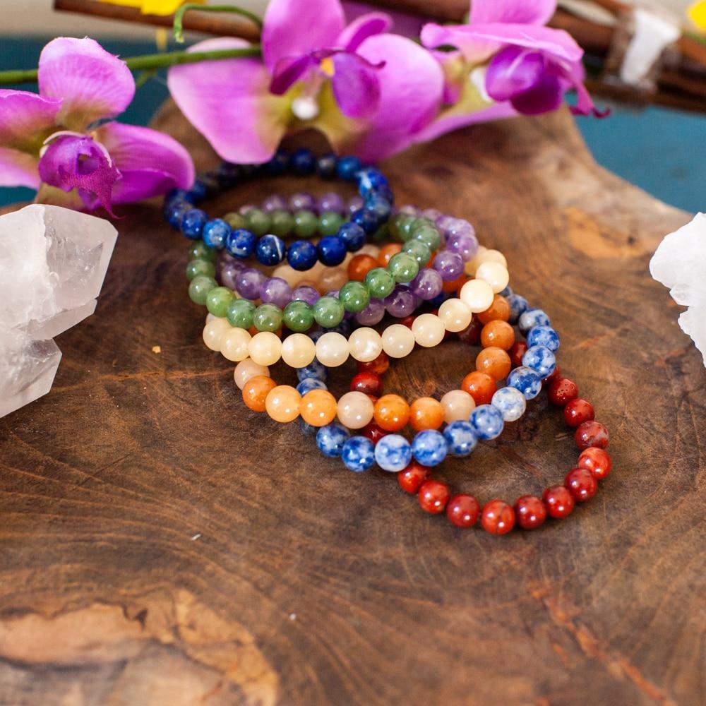 zeven edelstenen chakra armbanden