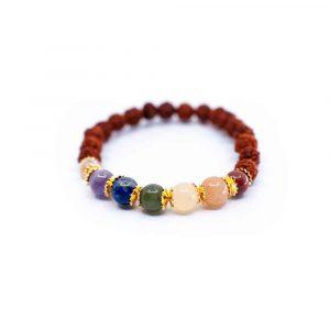 7 Chakra Rudraksha Armband