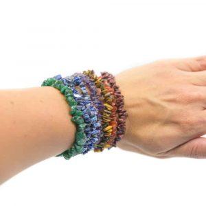 7 Chakra Splitstenen Armband Set